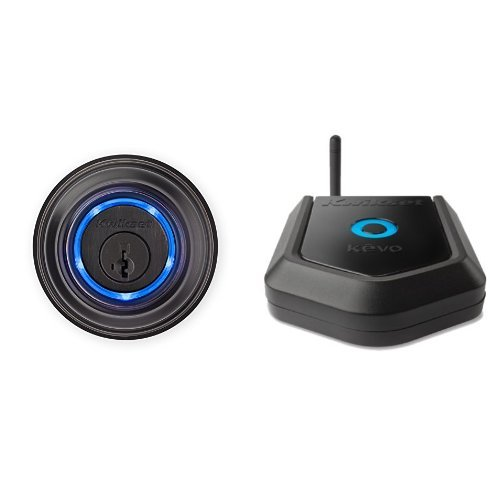 Kwikset Kevo (2nd Gen) Touch-to-Open Bluetooth Smart Lock in Venetian Bronze and Kevo Plus Hub