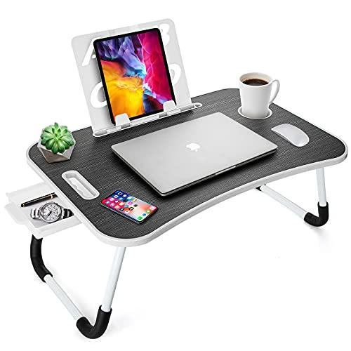 FEIGOUZI ローテーブル 折りたたみテーブル サイドテーブル ベッドテーブル ラップデスク ノートパソコンスタンド パソコン作業でき 幅60cm×奥行39cm×高さ28cm 安定性 組み立て不要 在宅勤務 狭い空間向け