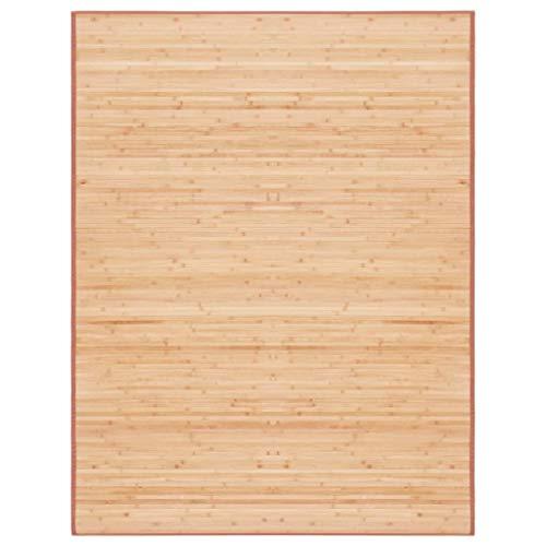 vidaXL Teppich Bambus Braun Wohnzimmer Küchenteppich Bambusteppich Bambusmatte