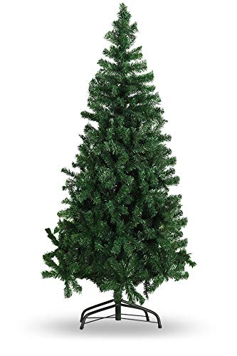 Kyhon Artificial Christmas Tree,6Ft Pine Tree with Solid Metal Legs,750 Tips,Easy Assembly,Perfect for Indoor and Outdoor Christmas Decoration