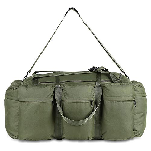 OASIS LAND 600D Cloth Men's Backpack 90L Large Capacity Hiking Backpack Outdoor Travel Bag Rucksack-Green-OneSize