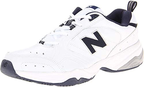New Balance Men's 624 V2 Casual Comfort Cross Trainer, White/Navy, 10.5 W US
