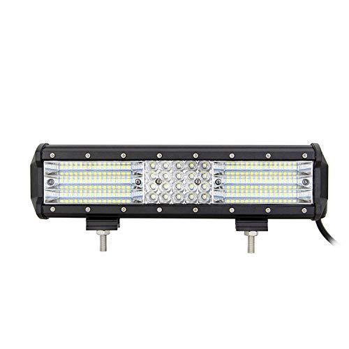AUXTINGS 12 pulgadas 330W 4 Fila Barra de luz LED Trabajo Luz Punto Inundación Haz para camiones Tractor 4X4 Barco Off Road Auto niebla lámpara de conducción
