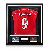 exclusivememorabilia.com Camiseta del Liverpool firmada por Robbie Fowler. Marco de Lujo
