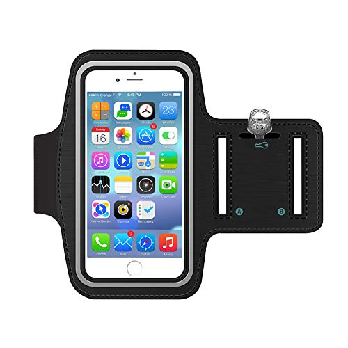Sportarmband Hülle, Armtasche Hülle Oberarmtasche mit Schlüsselhalter, Kabelfach, Anti Rutsch Fitness Armband Handy-Lauf-Tasche Running-Case für iPhone 6 plus/ 7plus, Samsung Galaxy S7/ S6/ S5, 5.5""