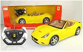 1/12 Scale Ferrari California Convertible Radio Remote Control Sport Car RC RTR Official Liciense Model (Color: Yellow)