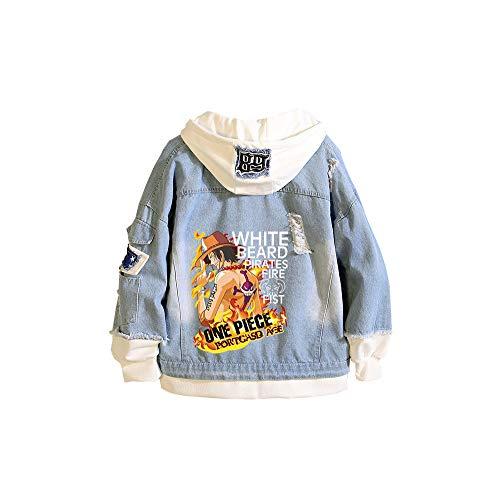 CXWLK ONE Piece Monkey D. Luffy Roronoa Zoro Unisex Sommer Super Leichte Outdoor Sonnenschutz Softshell Jacke Dünne Fahrradjacke,Blue,S