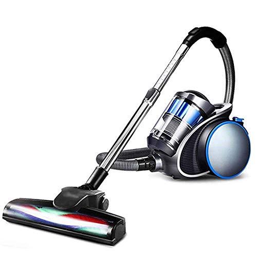 Limpiador de aspiradora doméstica Aspiradora-Multifuncional Horizontal Succión grande Ultra-silenciosa Potente de alta potencia de alta potencia Aspiradora de mano, Hogar negro, Oficina Portátil AOIWE