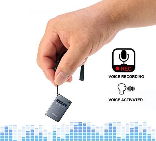 Grabadora De Voz Digital, Eoqo Grabadora De Audio Activada Por Voz Reproducción A Través De Auriculares De 3.5 mm - 15 Horas Grabación De Voz - Grabadora De Voz Con Tarjeta De Memoria De 16GB