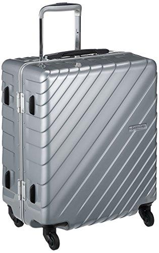 [ヒデオワカマツ] スーツケース フレーム ナロースクエア 軽量 無料預入 85-76520 保証付 55L 55 cm 3.9kg シルバー