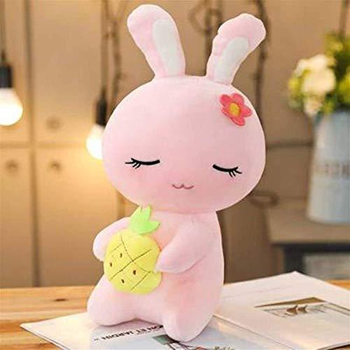 DINEGG Little Rabbit Plüsch-Spielzeug, Rosa, Weiß, Grün, Lila Kissen gefüllt mit weichen Kissen und schönen Mini-Simulation Spielzeug (Farbe: 2, Größe: 38cm), Größe : Medium, Farbe Name: Rosa QQQNE
