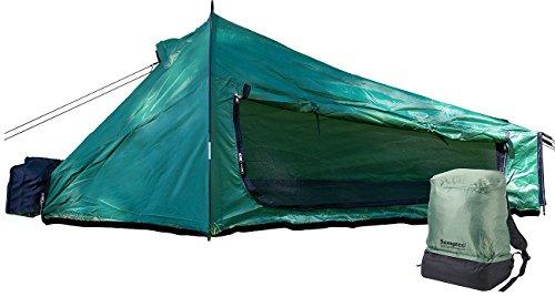 Semptec Urban Survival Technology Einmannzelt: Ultrakompaktes Rucksack-Tunnelzelt für 1 Person, 1.500 mm Wassersäule (1 Mann Zelt)