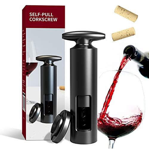 Cavatappi Vino con tagliacapsule 2 in 1 Apribottiglie apribottiglie vino professionale Tagliacapsule cavatappi aprivino in acciaio inox per la casa Feste e Amanti del Vino