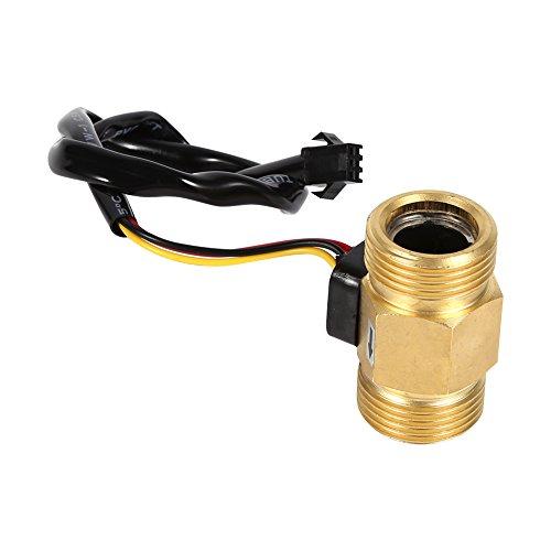 """Sensor de Flujo de Agua G3/4"""" Liquid de Efecto Hall Sensor de Flujo de Agua Interruptor Caudalímetro Líquido Medidor 2-45L / min"""