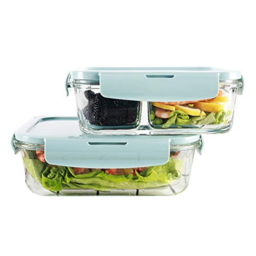 Best Bargain LINGLING Glass Lunch Box Container Sets Food Storage & Organization Sets Ideal Containe...