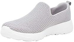 commercial Skechers Women's Go Walk Joy, light gray, 9 width skechers socks online
