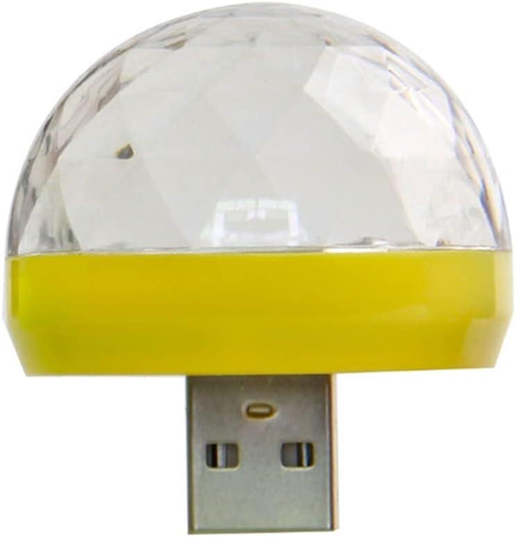 Portable Max 83% OFF Philadelphia Mall Mini Disco Ball Light Part Car USB Atmosphere LED