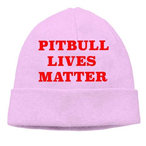 XCNGG Gorro de Punto Gorro de Lana Mens and Womens Pitbull Lives Matter Knitted Cap, Trendy Skull Cap