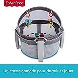 Fisher-Price Dôme-lit protection bébé portable 2-en-1 pour le jeu ou la sieste avec 2 jouets amovibles, dès la naissance,...