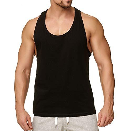 Happy Clothing Herren Tank Top Sport Fair-Trade, 100{df4729412526599f61f5604c78ad841c64cf6c5e27c9987dd66ff6a52a1caddf} Baumwolle, Größe:M, Farbe:Schwarz