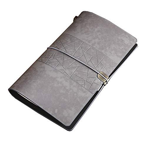 JYCDD 2 Notas De Viaje Cuaderno Retro Papelería Cuaderno Creativo Cuaderno De Estudiante Minimalista Hecho A Mano Libro De Arte,Gris