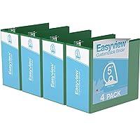 Easyview プレミアム アングルDリング カスタマイズ可能 ビューバインダー 6個パック (5インチ グリーン)