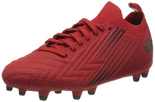 Canterbury Herren Speed 3.0 Pro Firm Ground Rugby-Schuhe, Fiery Red Black, 41 EU