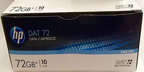 HP C8010A Data Tape DAT 72 Digital Data Storage 72 GB 10-Pack