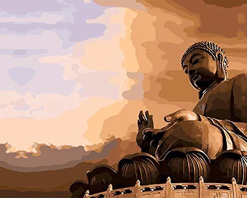 China great wall grand buddha malen nach zahlen malen auf leinwand acryl färbung painitng by zahlen für hauptwanddekoration (60 cm * 75 cm)
