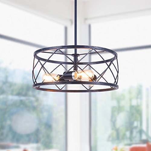 3-Light 15.75'' Rustic Vintage Farmhouse Pendant Light Fixture  $49 at Amazon