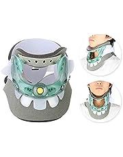 Dispositivo de tracción cervical, collar de alivio del dolor de cuello ajustable, herramienta de recuperación para el cuidado del cuello