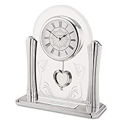 Things Remembered Personalized Wedding Pendulum Clock with Engraving Included
