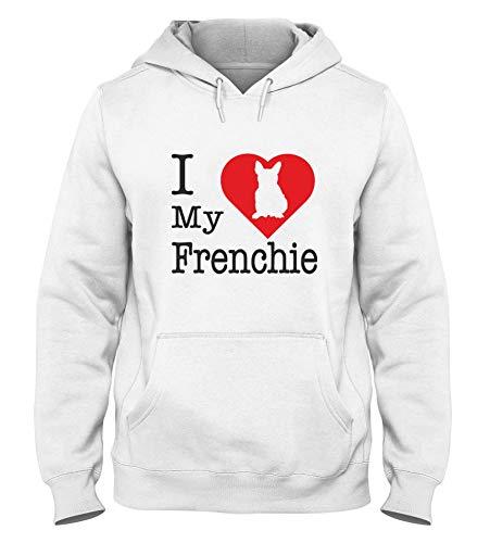 Sudadera con Capucha para Hombre Blanca WTC1693 i Love my Frenchie