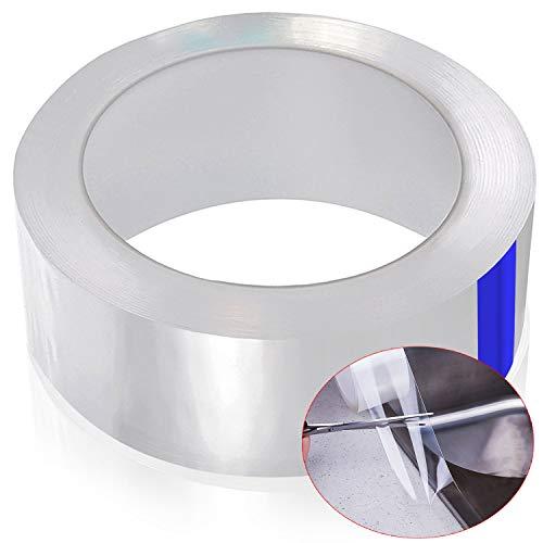 cococity Dichtungsband Selbstklebend Transparent Fugendichtungsband Wasserdicht PET Acrylband Anti-Mehltau Klebeband Dichtstoff für Badzimmer Küchen Fenster und Tür (5MX30MM)