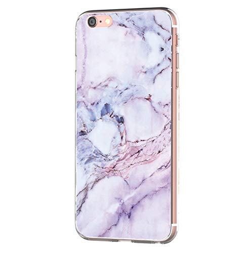 iPhone 6 iPhone 6s hülle Tasten Fonts Schutzhülle Clear Case Cover Bumper Anti-Scratch TPU Silikon Durchsichtig Handyhülle für iPhone 6 Plus/6s Plus (Apple iPhone 6/6s, Marmor 1)