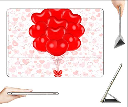 Case for iPad Pro 12.9 inch 2020 & 2018 - Vector Abstract Background Ball Day of Birth