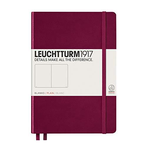 LEUCHTTURM1917 359697 Notizbuch Medium (A5) blanko, Hardcover, 251 nummerierte Seiten, Port Red