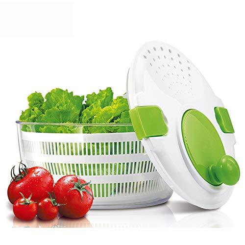 SHUHAO Centrifugadoras para Ensalada, Lechuga Spinner Vegetal Lavadora Secadora, con Grandes Ensaladera y plástico colador, para el Lavado y Secado de Hoja Verduras