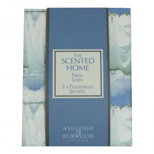 Pack of 3 Scented Sachets - Fresh Linen by Ashleigh & Burwood