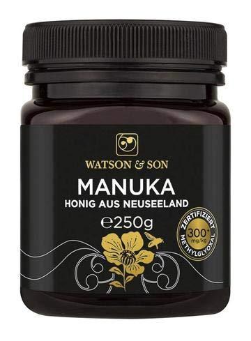Watson & Son Manuka Honig MGO 300+ 250g, zertifizierte Premium Qualität aus Neuseeland