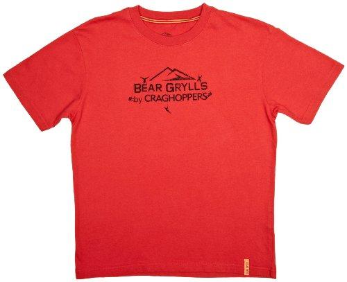 Craghoppers Bear Grylls T-Shirt en Coton pour garçon Bear Red Size 11-12