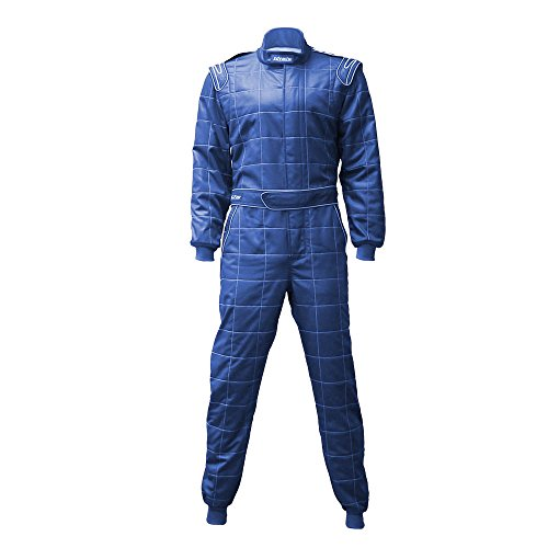 jxhracing RB-0001BL One-Piece Auto Racing Suit 2XL Blue