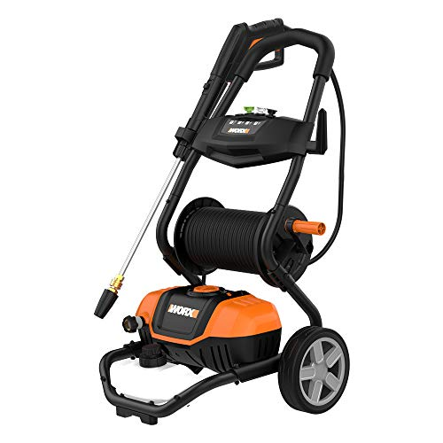 Electric pressure washer with rolling cart