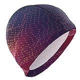 CFHYJ スイムキャップ 仮想空間 スイミングキャップ 水泳帽 競泳 トレーニング 柔らかい 伸縮性良い 着脱簡単 滑り止め 大人用 メンズ レディース 男女兼用 防水