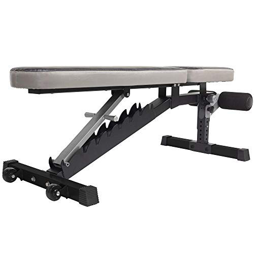 StrengthTech Fitness USA Made Adjustable Weight Bench | Fitness Gym Quality | Powder Coated Steel | Black