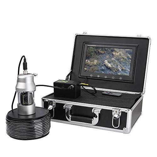 Subacquea Telecamera da Pesca, Fish Finder Professionale Telecamera da 10 Pollici IP68 Impermeabile Rotazione di 360 Gradi HD 700 TVL Telecamera per Pesca Videocamera (Cavo da 50M)