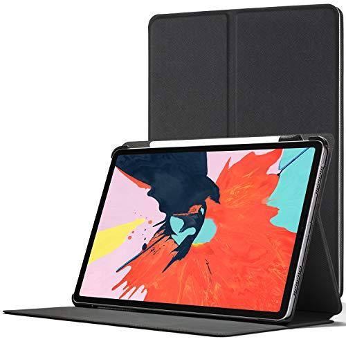 """Forefront Cases Smart Hülle für iPad Pro 12.9 2018 - Magnetische Schutzülle Case Cover & Ständer Apple iPad Pro 12.9\"""" 2018 - Smart Automatische Schlaf Wach Funktion - Elegant Dünn Leicht - Schwarz"""
