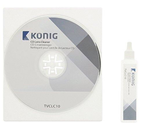 König TVCLC10 CD-Linsenreiniger mit 20 ml Reinigungsflüssigkeit