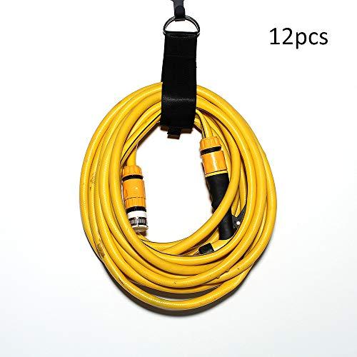 Sulida Verlängerungsschnur Halter Organizer Klettverschluss Aufbewahrungsgitter Kabelbinder Hochleistungs Haken und -schleife Organizer mit Klettverschluss für Schnüre Kabel Schläuche Seile 12 Stück