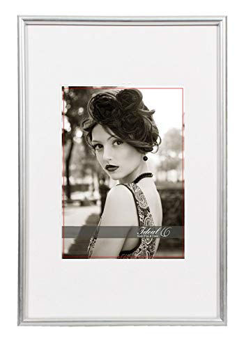 IDEAL Square Trend Bilderrahmen 9x13 cm bis 50x70 cm 18 Größen 7 Farben Foto Rahmen: Farbe: Silber | Format: 50x70